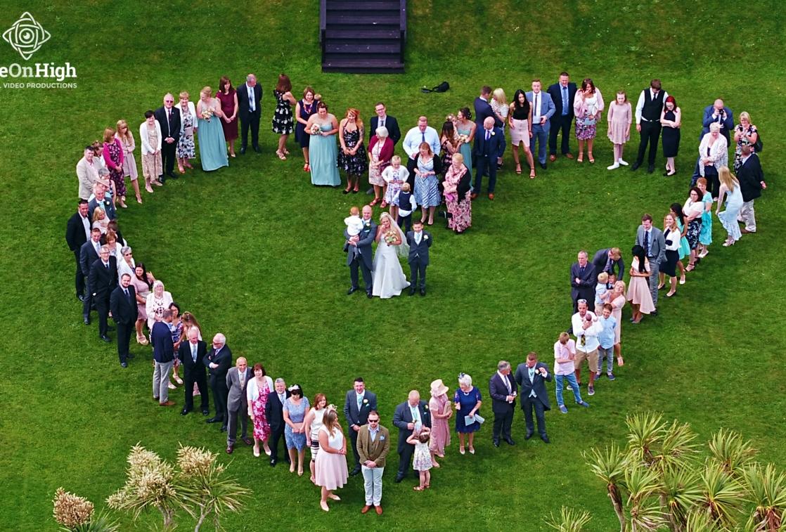 Drone Wedding Photography.Wedding Videography Cornwall Drone Wedding Videos